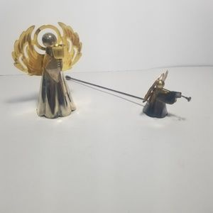 Vintage brass angel candle holder and snuffer